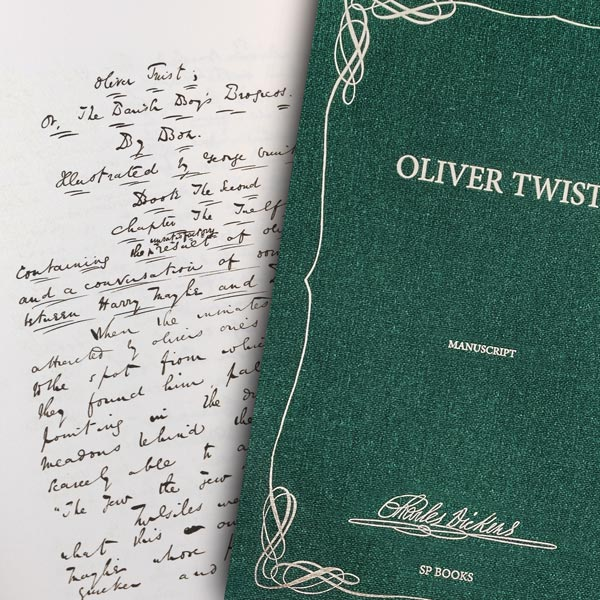 Oliver Twist, the manuscript of Charles Dickens
