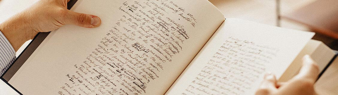 Frankenstein, the manuscript of Mary Shelley