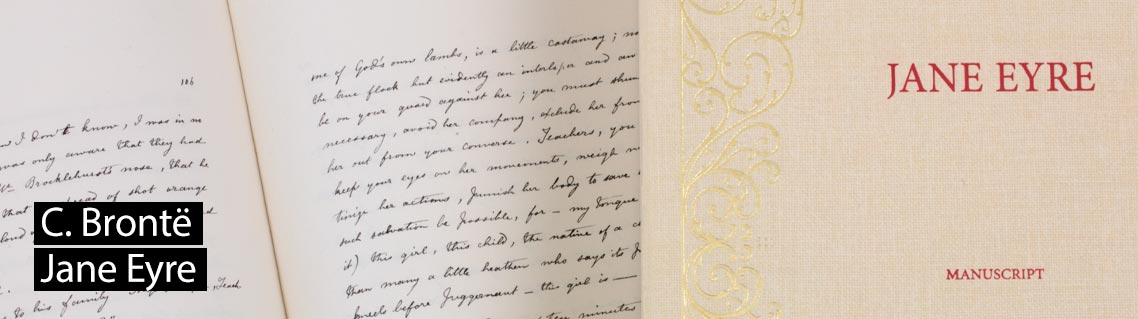 Jane Eyre, the manuscript of Charlotte Brontë