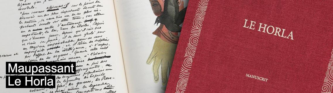 Le Horla, le manuscrit de Guy de Maupassant