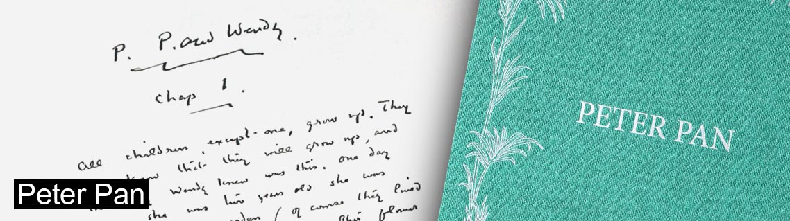 Peter Pan, le manuscrit de James Matthew Barrie