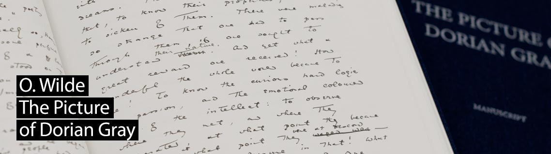 The Picture of Dorian Gray, the manuscript of Oscar Wilde